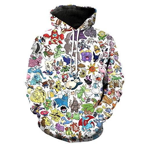 Jandz] Unisex Hoodie Naruto: Donner, 3D Drucken, Otaku, Cosplay, Manga, Anime-Design (Asian (3XL) → EU (XL), Style- 884) -