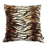 New African Animal Skin Design Muster Safari Wild Tiger Muster Weiches Fellimitat gefüllt Kissen–Größe 55cm x 55cm