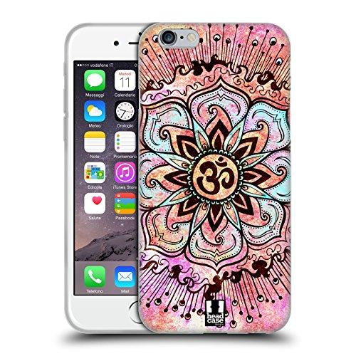 Head Case Designs Rosa Farbspritzer Om Zeichen Soft Gel Hülle für Apple iPhone 6/6s