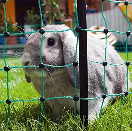 Ellofence Kleintier Weidezaun mit Weidezaunnetz für Kaninchen Hunde Katzen Kleintiere - 5
