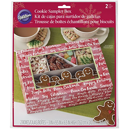 oliday Cookie Sampler Box, Papier, Mehrfarbig, 16,51 x 15,88 x 7,62 cm ()