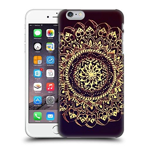 Officiel Magdalena Hristova Noir Et blanc Mandala Étui Coque D'Arrière Rigide Pour Apple iPhone 7 Plus / 8 Plus Or