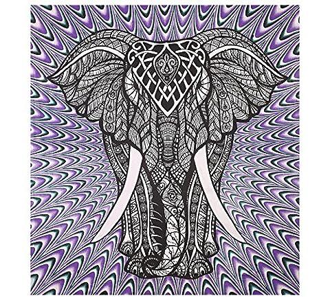 Lila Elefanten Tapisserien College Dorm Dekor Psychedelic Wand Hängende böhmische Wandteppiche Elefanten Tapisserie Hippie Tapisserie Wand Wandteppiche Indian Tapestry Wall Hanging