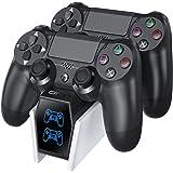 OIVO Caricatore Joystick PS4, Caricatore Controller ps4,Ricarica PS4 con Chip di Ricarica di 2 Ore, Dock di Ricarica per Cari