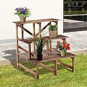 Outsunny fioriera portavasi scaletta da giardino for Scaletta portavasi