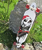 Longboard 41 Skull BOARD NEUES DESIGN Totenkopf