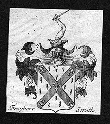Freyherr Smith - Smith Wappen Adel coat of arms heraldry Heraldik Kupferstich