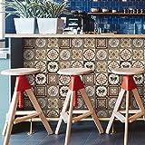 Tonsee 16PCS Fliesenaufkleber 3D Gedruckt Wandbilder Dekoration Patchwork Wandtapete Wandposter Mode Wanddekoration Fliesen Aufkleber Folie Sticker für Küche Bad-Fliesen Fußboden Wanddeko (C)