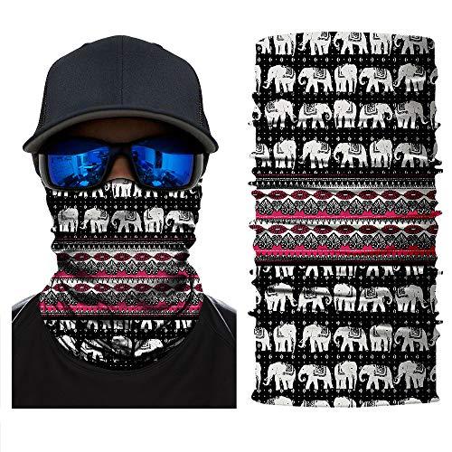 ShopINess Pañuelo Bandana Multiuso - Elefantes