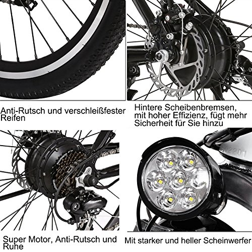 ANCHEER Elektrofahrrad 26 Zoll E- Bike Bild 6*