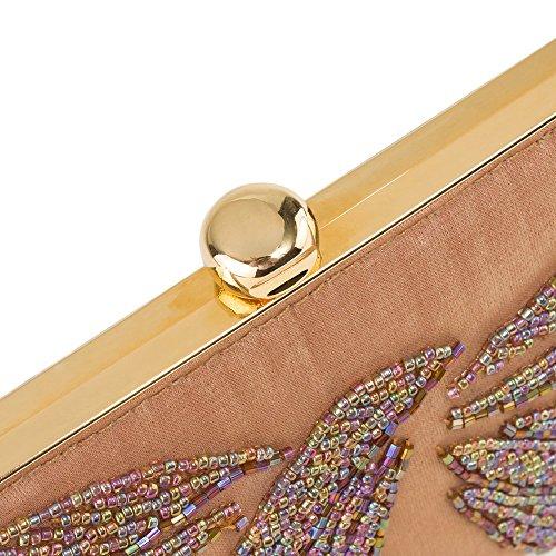 Pochette in rilievo raso Lilac