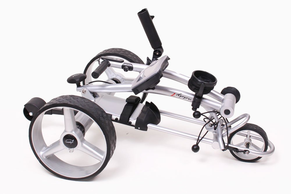 Ahowa Gmbh Elektro Trolleys.Caddyone Elektro Golf Trolley 650 In Silber Mit 2 X 200 W