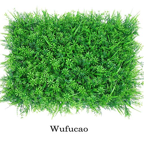 SUNNAIYUAN Künstlicher Gras-Teppich, Grünpflanze simulierte Wand-Wohnzimmer-Innenhintergrund-dekorative Wand (Size : 8pack) -