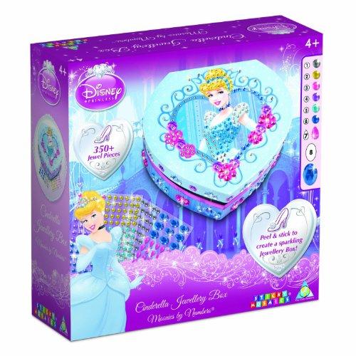 Unbekannt Sticky Mosaics Disney Prinzessin Cinderella Herz Box (Cinderella Schmuck-box)