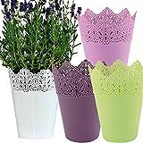 Blumentopf Pflanzkübel Orchideentopf Kosmetik Schreibtischköcher Neu (Grün)