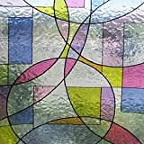 Linea fix® Fensterfolie GLS 4652 Buntglas Dekor - statische Dekorfolie, Bitte Größe wählen:0.46m x 1.80 m