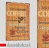 dasmöbelwerk Landhaus Plankenschild Wandpaneel Wand Deko Bild Vintage Spruch Coffee Cappuccino 15.071.01