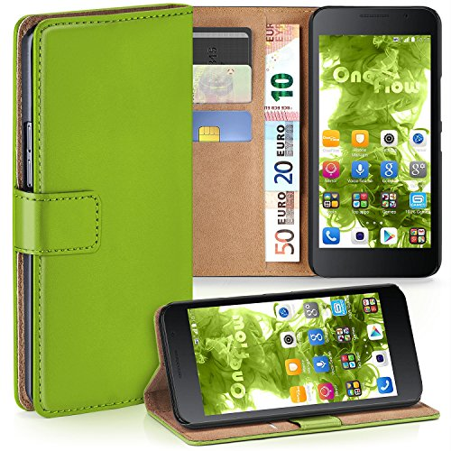 moex Huawei Honor 6 | Hülle Grün mit Karten-Fach 360° Book Klapp-Hülle Handytasche Kunst-Leder Handyhülle für Honor 6 Case Flip Cover Schutzhülle Tasche