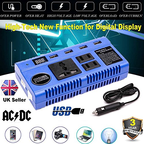 woyao13deng Auto Inverter 200 Watt/Watt 12 V DC zu 220 V/AC Adapter Konverter/USB Port Buchse/Mobile Tablet Telefon Ladekabel