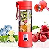Portable Mixeur des Fruits Rechargeable USB,Mini Blender Pour Smoothie, Milk-shake,Jus de Fruits,Blender Portable 350-420ml 6