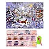 Sunsbell 40 * 30cm Weihnachtshaus Muster N?harbeit Diamant Malerei Stickpackungen