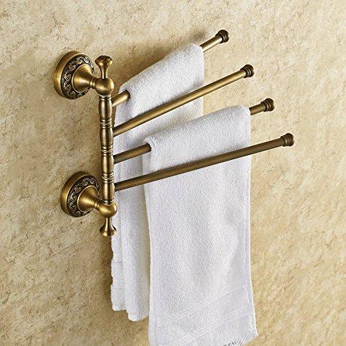 BBSLT-In ottone massiccio portasciugamani di Fold Up asciugamano Bar vintage antiquariato