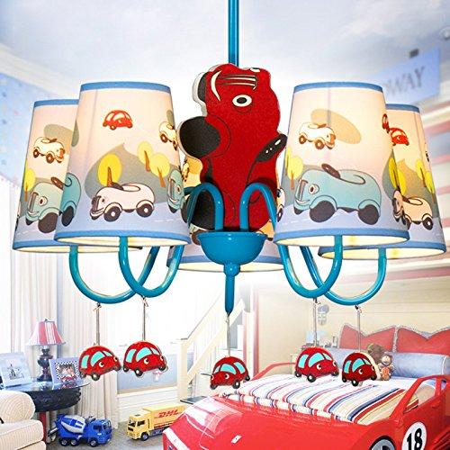 Jungen Cartoon Auto Schlafzimmer Kronleuchter Lampe Mediterraner Kid 's Room Anhänger Leuchten Kinder Pendelleuchte - 4