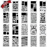 Bullet-Journal Schablone Set Kunststoffplaner DIY Zeichnungsvorlage Herrscher, TIME4DEALS Malerei Schablone für Journaling Scrapbooking Karte und Kunstprojekte (20 Stk)
