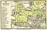 MAP ANTIQUE 1898 KIESSLING SANSSOUCI PARK POTSDAM REPLICA