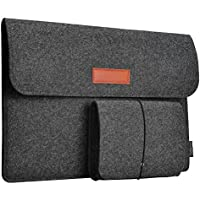 "dodocool 13,3 Zoll Filz Sleeve Hülle Ultrabook Laptop Tasche für 13"" MacBook Pro/Retina/MacBook Air, iPad Pro 12.9 Tasche Dunkel Grau"