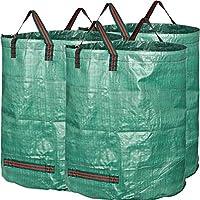 GardenMate 3x 300L Sacchi da giardinaggio PROFESSIONAL - Sacchi per rifiuti da giardino - Polipropilene (PP) 150gsm - Robusto, antistrappo, idrorepellente