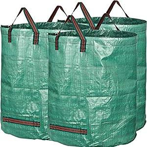 61OwIazAyYL. SS300  - GardenMate® 3 Sacos de jardín 300 L PROFESIONAL tejido de polipropileno (PP) robusto