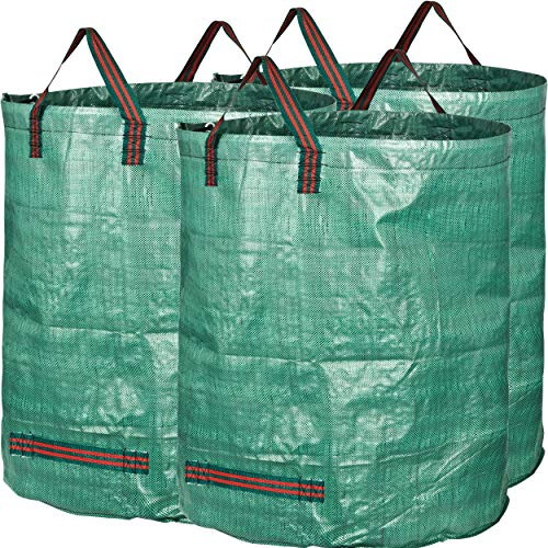 PP Bolsas para desechos de jard/ín 1 PCS Saco para residuos Bolsas de Basura de jard/ín y Saco de jard/ín Extra Resistente Plegable Bolsas de Jardin Hechas de Tela de Polipropileno
