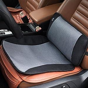 VIKTOR JURGEN Verstellbare Vibrationsmassage Lendenwirbelkissen Rückenstütze und Autositzkissen Massager mit Breathable