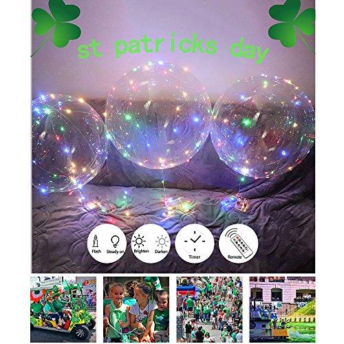 zeit - Led-luftballons Geburtstag Ballon Lichter - Led Luftballons Transparent Für DIY Partydekorationen Karneval Teen Kinder Geschenk Geburtstag (KEINE Batterie, Helium) 1 Stück (Bunt) (Diy-hochzeit Geschenk)