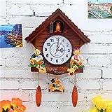 YJSMXYD Orologio Orologio A cucù Orologio A cucù Orologio A cucù Orologio da Parete Soggiorno Moderno Orologio da Bambino Decorazioni per Bambini Home Day Time Alarm