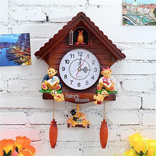 ed2ea7890 YJSMXYD Reloj De Pared Reloj Pájaro Reloj De Cuco Reloj De Cuco.