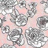 Lillestoff Bio Jersey Flores, rosa, Blumen *** 50 cm x 150