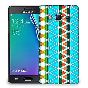 Snoogg AZTEC NEON AQUA Designer Protective Back Case Cover For Samsung Galaxy Tizen T3