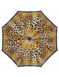 Paraguas Pierre Cardin plegable con apertura y cierre automático, diseño leopardo