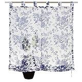 Gardinenbox.eu Raffrollo, Farbe Blau, 1 Stück, My Home, Größe: ca. HxB: 140x100 cm, mit Schlaufen, Lieferung Inklusive Montageanleitung und Zubehör