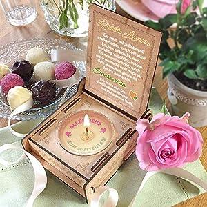 Geschenkbox für Mama mit Botschaft & Kerze | Geburtstagsgeschenk | Engel ohne Flügel nennt man Mama | Dankeschön Mama | Geschenk zum Geburtstag (Orange)