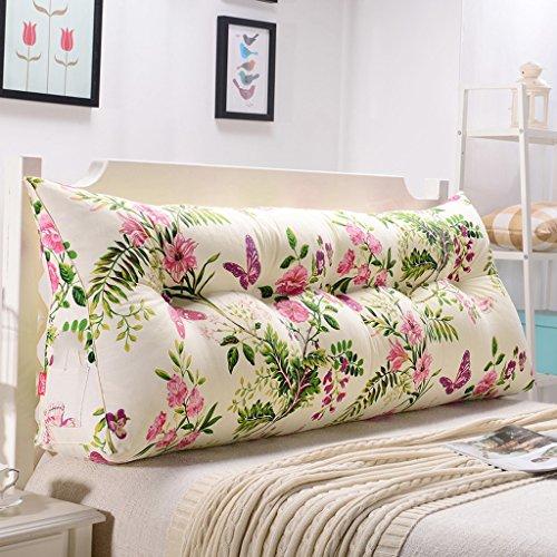 uus White Plant Triangle Sofa Coussin Coussin de tête de lit Design ergonomique Dossier et la taille Couverture lavable en environnement avec 3D High-élastique de remplissage de coton Pearl ( taille : 180cm(6 Buttons) )