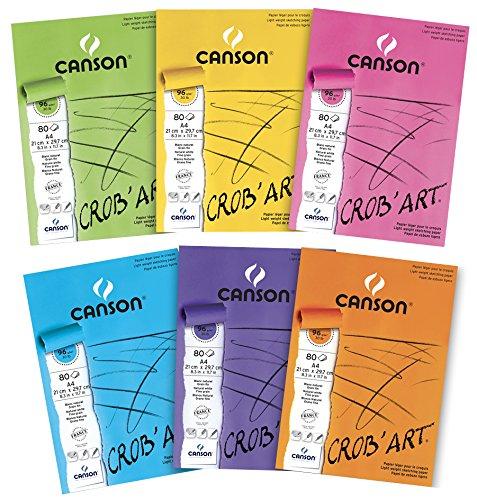 Canson - Bloc de dibujo (210 x 297 mm, 96 g/m²), color blanco