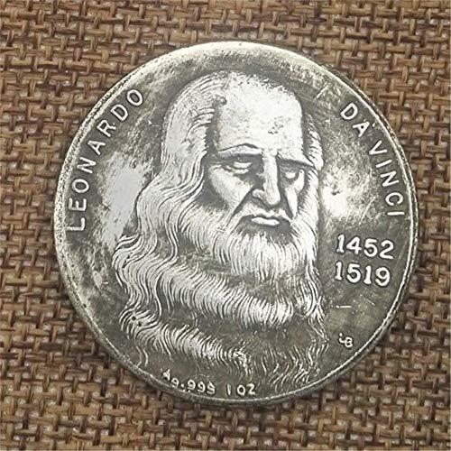 YunBest Collection Silver Dollars Italy Da Finch Alte Silber Münzen Kollektion von antiken Silbermünzen BestShop (Antik-silber-münzen)