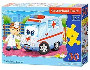 CASTORLAND Ambulance Doctor 30 pcs Contour Puzzle 30 Pieza(s) - Rompecabezas (Contour Puzzle, Dibujos, Preescolar, Niño/niña, 4 año(s), Interior)