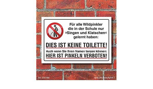 Schild Pinkeln verboten urinieren pissen Eier abschneiden 3 mm Alu-Verbund