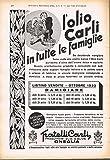 OLIO CARLI. Anno 1933 (1)
