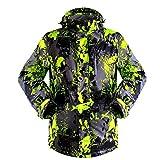 iPretty Skianzug Herren Skijacke Outdoorjacke Regenjacke mit kapuze Softshell Jacke wasserdicht atmungsaktiv Funktionsjacke
