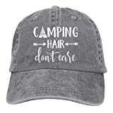 shengpeng Unisex Camping Hair Don't Care-1 Vintage Jeans Baseball Cap assic Cotton Dad Hat Adjustable Plain Cap